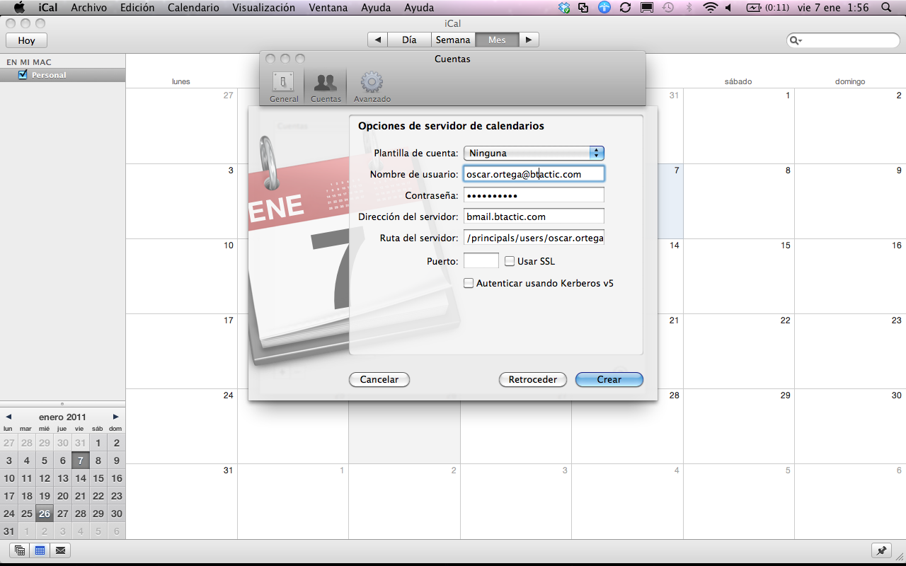 How to set up the Zimbra calendar in Apple iCal? – bTactic Open