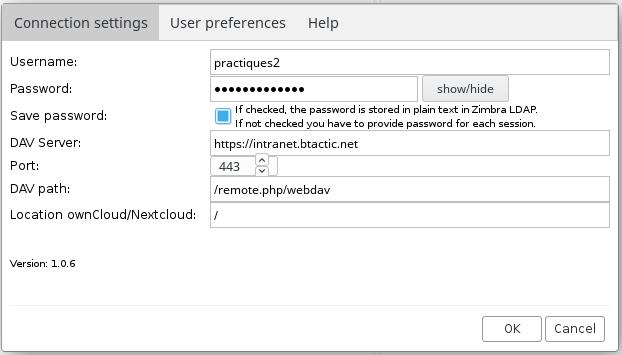 How to configure bDrive in Zimbra? – bTactic Open