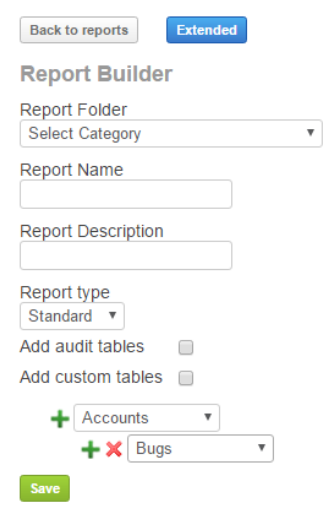 How to create new report templates via report builder